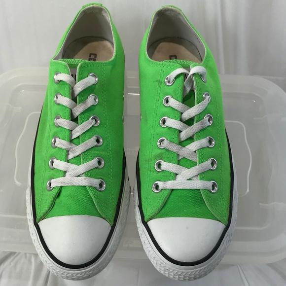 6d9567ea4ff Rare Neon Green Converse All Stars Unisex 7M 9W